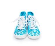 Beaux chaussures en caoutchouc, d'isolement sur le blanc Image stock