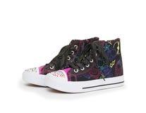 Beaux chaussures en caoutchouc, d'isolement sur le fond blanc Image stock