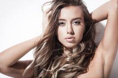 beaux cheveux et maquillage Image libre de droits