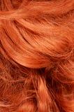 Beaux cheveux rouges comme fond Photo libre de droits