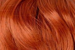 Beaux cheveux rouges comme fond Photos libres de droits