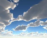 Beaux cieux bleus Photographie stock libre de droits