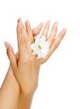 beaux clous et doigts de femme Photo libre de droits
