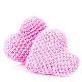 Beaux coeurs de crochet photo stock