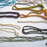 Beaux colliers de perle Images libres de droits