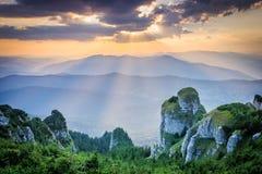 Beaux coucher du soleil/lever de soleil Photo stock