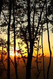 Beaux couchers du soleil Image libre de droits
