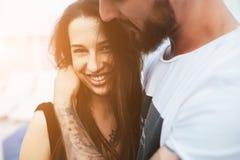 Beaux couples à l'angle étroit Image libre de droits
