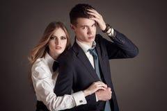 Beaux couples élégants Images libres de droits