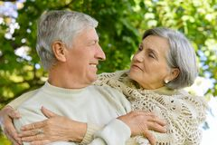 Beaux couples aînés Photos stock