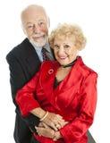 Beaux couples aînés heureux Images libres de droits