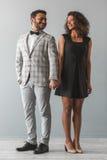 Beaux couples afro-américains photo stock