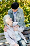 Beaux couples aînés Images libres de droits