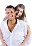 Beaux couples d'isolement sur le blanc image stock