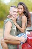 Beaux couples dans l'amour Image libre de droits