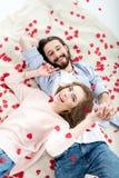 Beaux couples dans l'amour Photo libre de droits