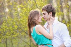Beaux couples dans l'amour l'été Images stock
