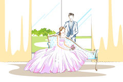 Beaux couples dans l'humeur romantique Photos libres de droits