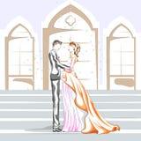 Beaux couples dans l'humeur romantique Images libres de droits