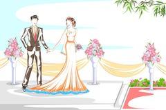 Beaux couples dans la cérémonie de mariage Photo libre de droits