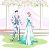Beaux couples dans la cérémonie de mariage Photos libres de droits