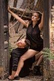 Beaux couples de la danse d'artistes professionnels Images libres de droits