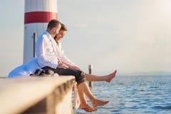 Beaux couples de mariage Photographie stock libre de droits