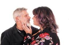 Beaux couples de Moyen Âge en plan rapproché Image stock