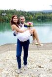 Beaux couples de sarclage Images libres de droits