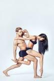 Beaux couples des danseurs photographie stock libre de droits