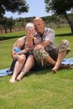Beaux couples en vacances Image stock