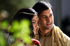 Beaux couples indiens Images stock