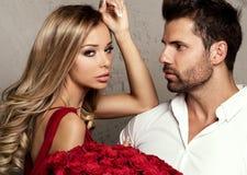 Beaux couples la date Images libres de droits