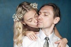 Beaux couples nuptiales Images libres de droits