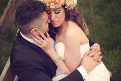 Beaux couples nuptiales Images stock