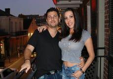 Beaux couples pendant une visite à la LA de la Nouvelle-Orléans photographie stock libre de droits