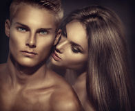 Beaux couples sexy Photo stock