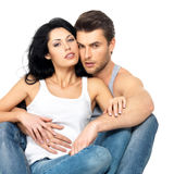 Beaux couples sexy dans l'amour Photos stock
