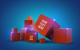 Beaux cubes rouges Photographie stock libre de droits
