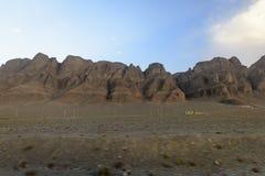 Beaux déserts en Iran photographie stock