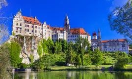 Beaux endroits de ville de Gremany - de Sigmaringen avec c impressionnant photos stock
