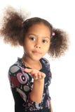 Beaux enfants afro-américains de fille avec c noir Image stock