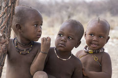 3 beaux enfants de Himba image stock