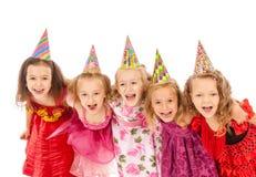 Beaux enfants heureux image stock