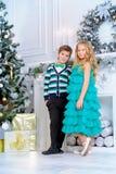 Beaux enfants sur Noël Photos libres de droits