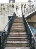 Beaux escaliers d'église catholique Photographie stock