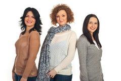 Beaux femmes de sourire dans une ligne Photos libres de droits