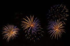 Beaux feux d'artifice photos libres de droits