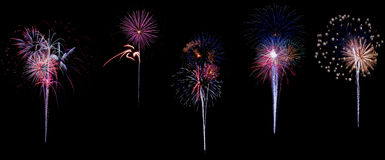 Beaux feux d'artifice colorés de vacances Image stock