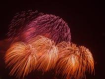Beaux feux d'artifice colorés lumineux Photos stock